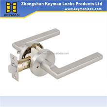 Privacy stainless steel hardware door lever locks set