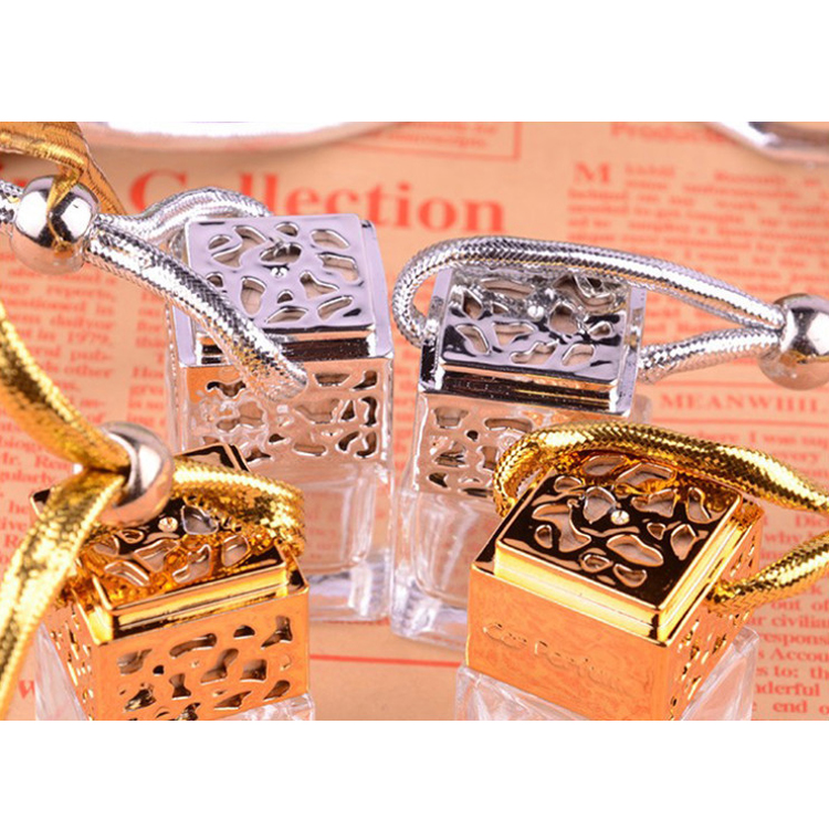 10ml square shaped car hanging perfume empty bottle for car air freshener