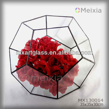 MX130014 wholesale tiffany art glass flower holder wedding decoration
