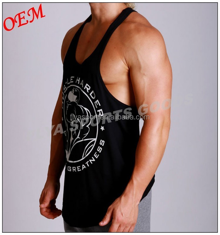 Custom Wholesale Sleeveless Tank Top Fitness Men GYM Singlet