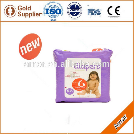 2016 newly design Soft Breathable Absorption nice baby diaper