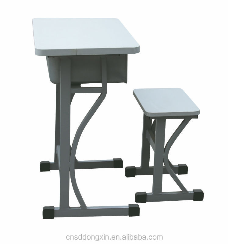 Type school desk chair with stacking metal frame charch chairs/school furniture set KZ28