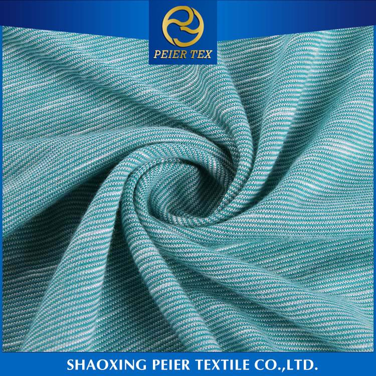 High quality design shrink resistance polyamide spandex fabric viscose jersey whiskered denim fabric