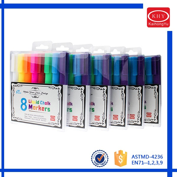 Hot sell 8 pack colorful liquid refillable ink whiteboard marker