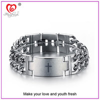 2015 Personalized Women Men Titanium Stainless Steel Medical Alert Bracelet