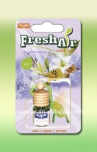 2012 new and scented wood lid air freshener with glass bottle for 4ml as car adornment