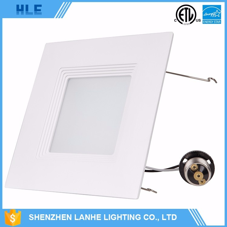 ETL,ES Certification and Aluminum Lamp Body Material led square downlight 120v