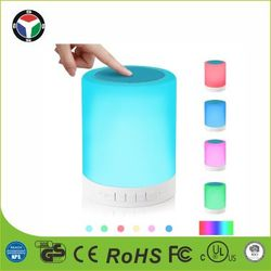 Rechargeable Smart Touch Portable Bluetooth Speaker LED Desk Lamp ,RGB Night Table Light
