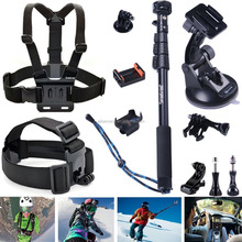 Smatree for gopro Accessories action camera Accessories 13-in-1 combo set with selfie stick