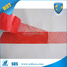 china supplier packing Tamper proof VOID security seal tape with VOID leaved behind when tore off