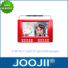 Factory wholesale 7 inch portable dvb-t2 lcd tv