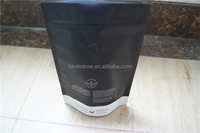 Coffee Packaging Bag Matte Black Stand up with valve Pouch