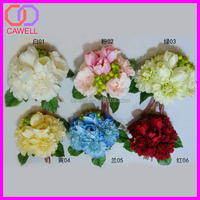 2016 new design handmade silk wedding flower bouquet