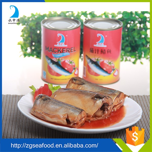 Delicate taste import canned mackerel