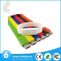 Top selling cheapest colorful bracelet usb flash drive