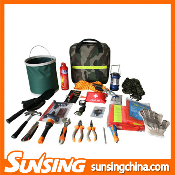 Emergency car safety repair tool kit emergency car kit