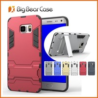 Hybrid kickstand tpu pc rugged rubber phone case cover for Samsung Galaxy S6 Edge Plus G9280