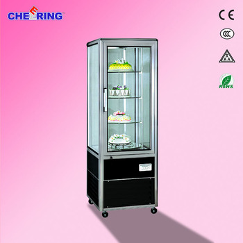 Rotating domed cake stand CHEERING cake fridge 1220*640*1890mm cake cabinet display