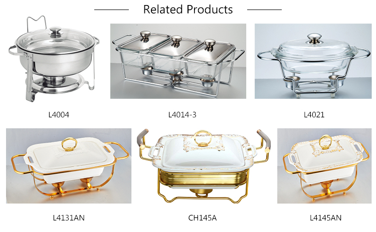 L4004 commercial buffet chafing dish & food warmer
