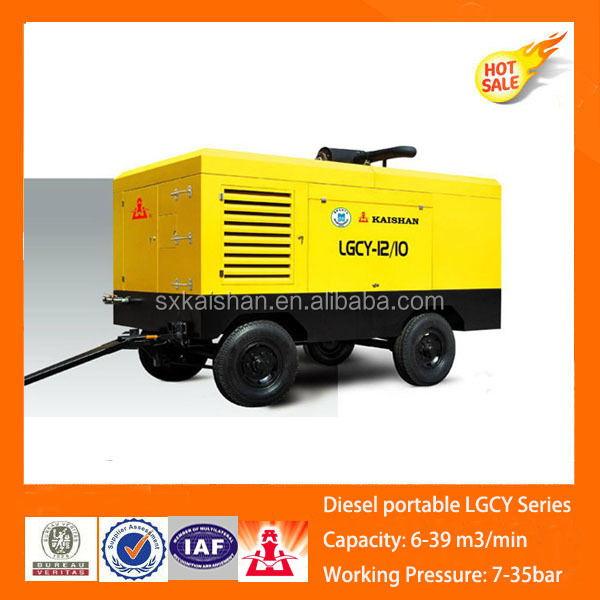 Kaishan diesel rotary screw portable air compressor