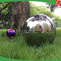3inch stainless steel sphere for garden decoration