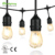 1.5w, 2W Edison Vintage string Light with LED Filament Bulb 2700K Warm White S14 String light