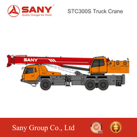 SANY STC300S 30 Tons High-Strength Steel Boom Truck Mounted Crane Truck For Sale