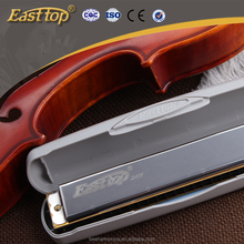 24 holes swan EASTTOP chromatic harmonica in plastic box (Copper/Stainless iron/ABS)