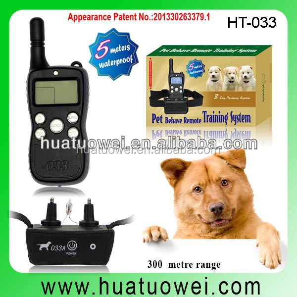 2017 HOT SELL LCD Remote bark control electronic shock dog training collar with remote