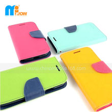 Fashion colorful for Samsung Galaxy S3 mini I8190 flip leather case