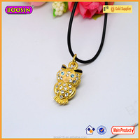 Guangzhou Boosin Fashion Jewelry Pendant Owl Shape Pendant Necklace In Silver/ Gold#8766