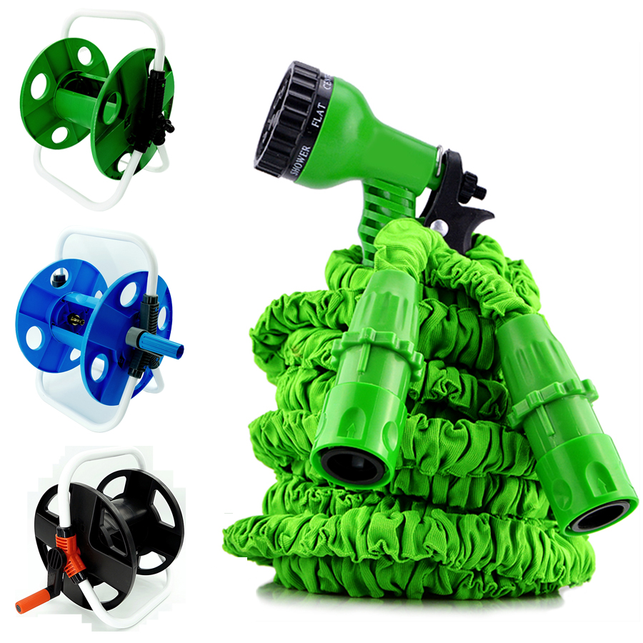 Tall-Top 2019 New Magic Hose Flexible Anti-Temperature Garden Hose Reel With No Buckle patent <strong>Connector</strong> 7 dials <strong>Nozzle</strong>