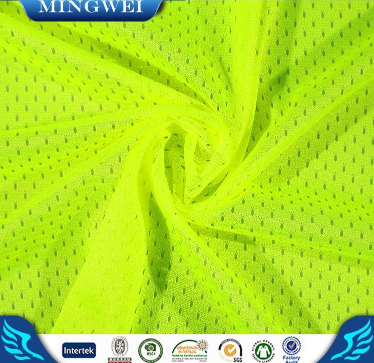 Alibaba China supplier halloween costumes fluorescent yellow mesh fabric