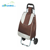 Steel luggage service cart two wheels folding shopping carts