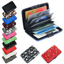 RFID Blocking aluminum wallet /business card case/plastic credit card pvc holder