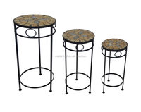 Iron garden decoration for mosaic stone top plant stand