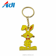 Hand made cheap customized Metal animal fish shape metal keychain for sale
