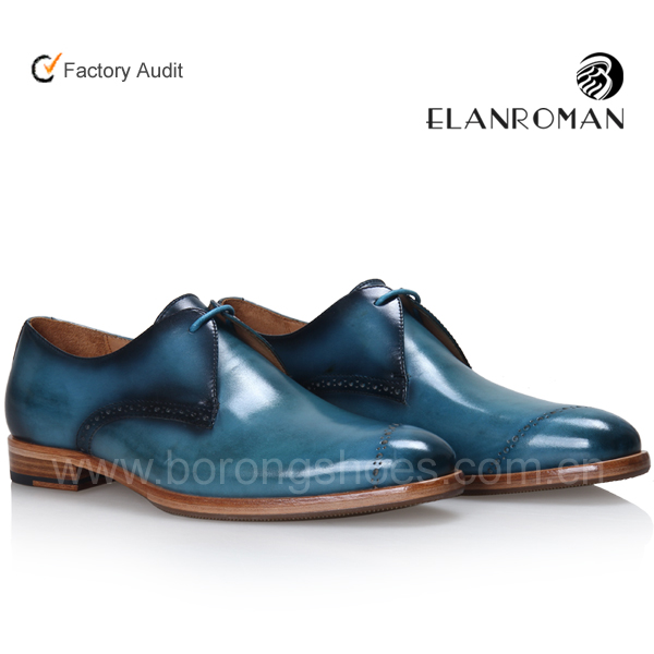 Classic good quality genuine leather shoe Derby dress shoes for men