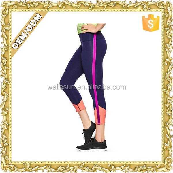 OEM design ladies yoga pants women trousers red white striped pants