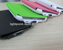 Colorful external portable charger battery for samsung galaxy note i9220 battery cover, with PU leather case