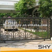 2014 China Manufacture Factory Wrought Iron Double Gates Design
