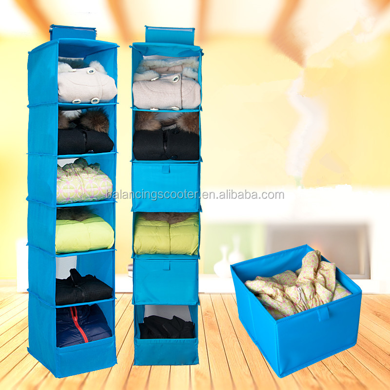 Multi Purpose 6 layer can be washed candy color storage box