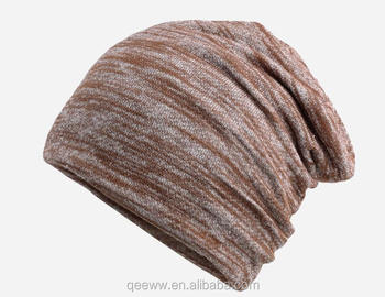 Summer knitting hat cotton polyester breathable unisex beanie hat