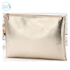 Wholesale hot selling convenient ladies promotional gold silver shinny pu cosmetic bag for travel