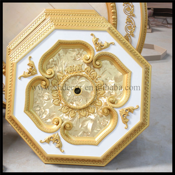 Luxury octagonal red rose and white classic ceiling design artistic ceiling tiles
