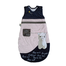 Eco-Friendly plus size kids sleeping bag cotton sleeping bag for baby