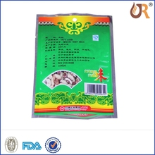 Stand up Aluminum foil tea pouch bag with resealable ziplock /flat botton bag for tea packing mapchine/Food plastic bag
