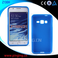 Wholesale plain Tpu Gel Mobile Phone case For Samsung Z130h Z1