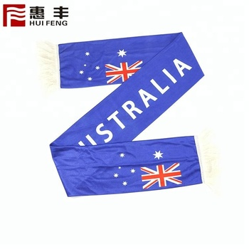 OEM eco-friendly Polanski national flag football fan scarf