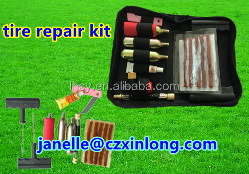 Motorcycle Puncture Tubless Tire Repair Tools and Accessories with Tire Repair Kit